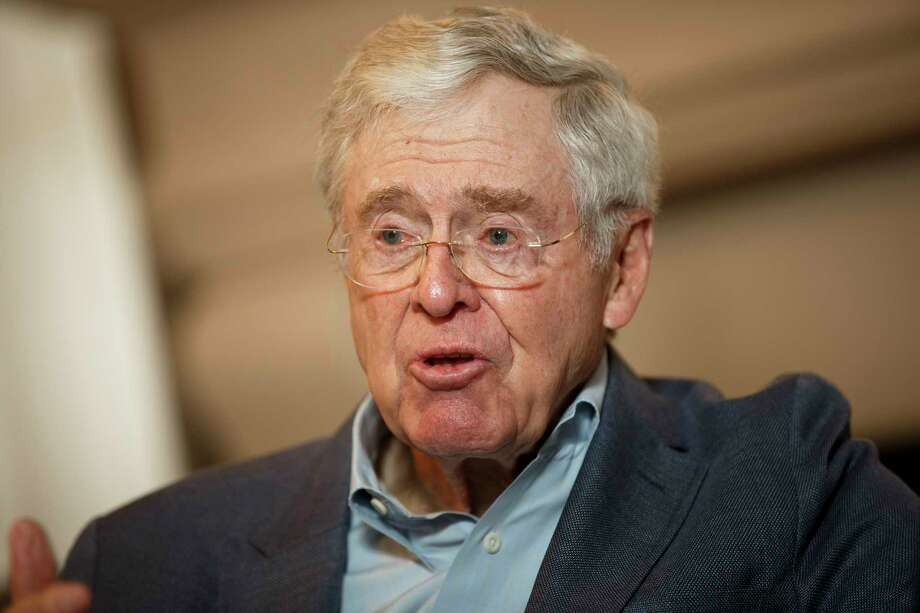 "Charles Koch, shown in 2015, told donors gathered in Colorado Springs, Colo., that ""we're just getting started"" and ""I assure you, I am not getting weak in the knees."" MUST CREDIT"" Bloomberg photo by Patrick T. Fallon Photo: Patrick T. Fallon, For The Washington Post / For The Washington Post"