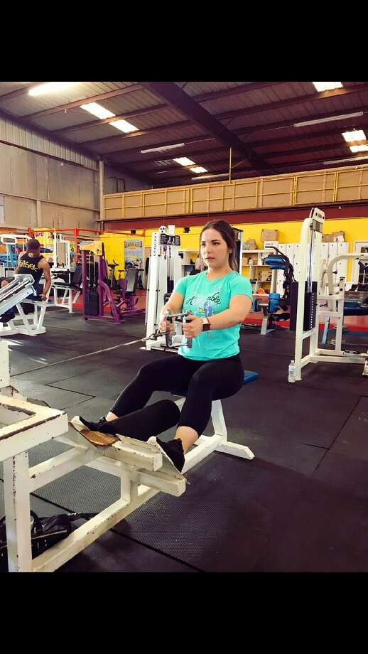 Veronica Trevino at Iron Body Fitness CenterJuly 17, 2018 Photo: TAMIU Health And Physical Activity Club