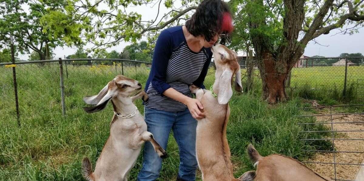 lisa seger at blue heron farm