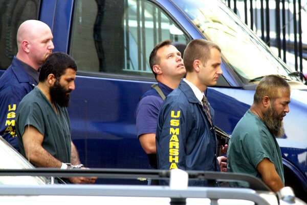 Mohammed Mosharref Hossain and Yassin Aref were arrested in 2004. Hossain, who is from Bangladesh, and Yassin Aref, then 36, an imam and Kurdish refugee from northern Iraq, were convicted on charges that they had supported terrorism as part of FBI informant Shahed Hussain's fictitious plot to launder money from the sale of a shoulder-fired missile. (Angela Bishop / Times Union)