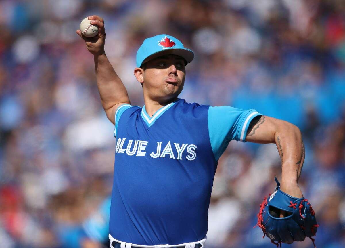 PHOTOS: What we know about Roberto Osuna so far The Astros traded for suspended reliever Roberto Osuna. He's eligible to pitch again Sunday.