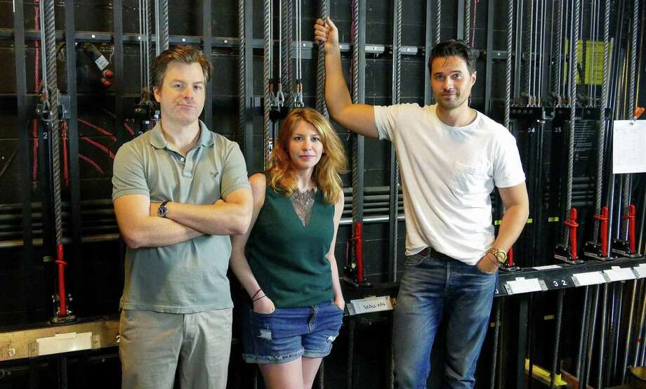 "Eric Bryant, Andrea Syglowski and Brett Dalton star in the backstage comedy ""The Understudy,"" at Westport Country Playhouse Aug. 14-Sept. 1. Photo: Stephen Emerick / Contributed Photo / Connecticut Post Contributed"