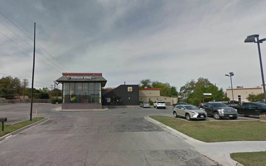 Police were responding to a suspicious person call around 2 p.m. at the former fast food restaurant's husk in the 1000 block of North Interstate 35 when they discovered a backpack in a transient camp behind the structure. Photo: Google Maps