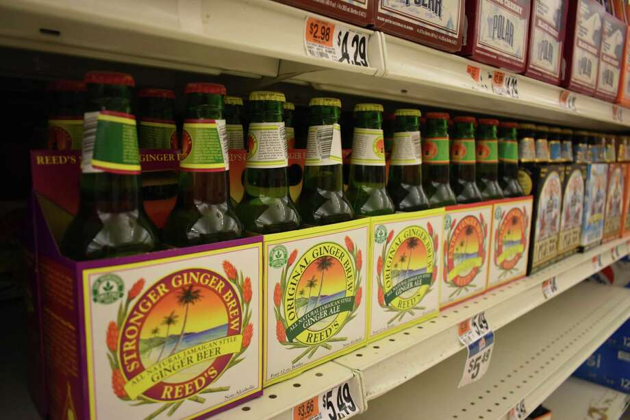 Reed's ginger beer and Virgil's root beer line the shelves of Stop & Shop in Norwalk, Conn., where the company announced on July 31, 2018 it would move its headquarters from Los Angeles. Photo: Alexander Soule / Hearst Connecticut Media / Stamford Advocate