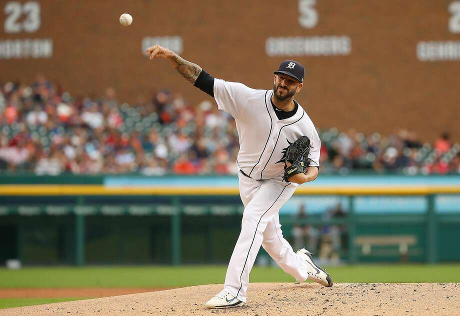 DETROIT, MI - JULY 27: Mike Fiers #50 of the Detroit Tigers throws a second inning pitch while playing the Cleveland Indians at Comerica Park on July 27, 2018 in Detroit, Michigan.  (Photo by Gregory Shamus/Getty Images) Photo: Gregory Shamus, Getty Images