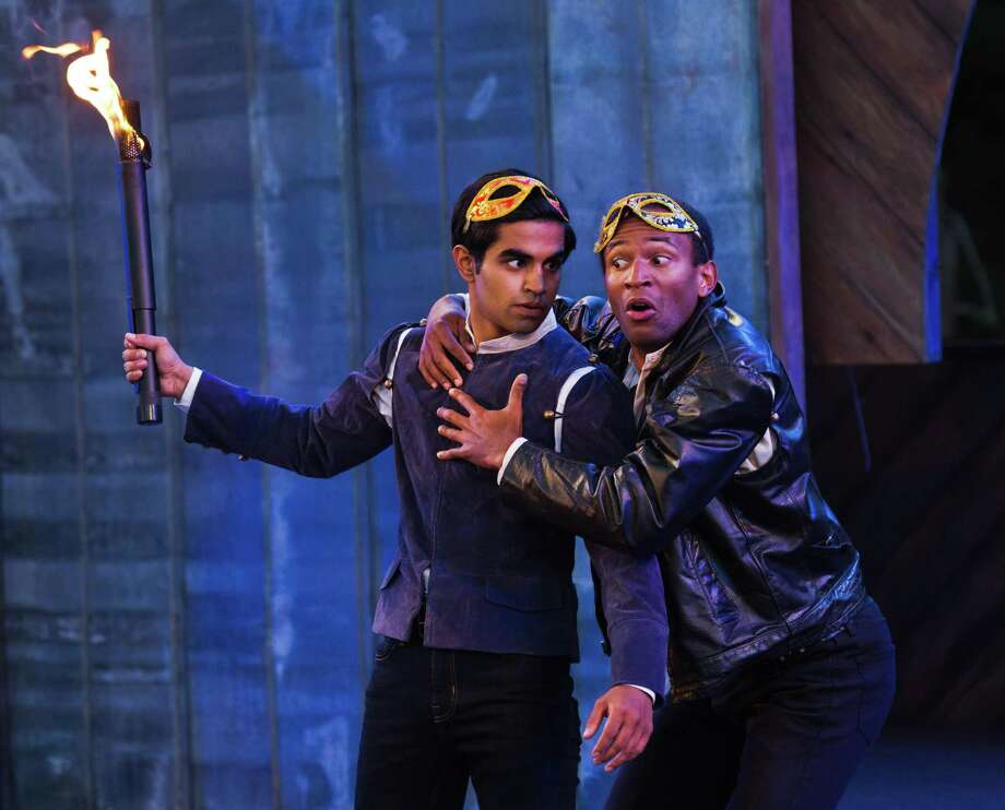 Taha Mandviwala is Romeo; Lorenzo Roberts, Mercutio. Photo: RR Jones / Santa Cruz Shakespeare