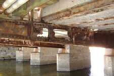 The floor beams of the West Main Street bridge have eroded.