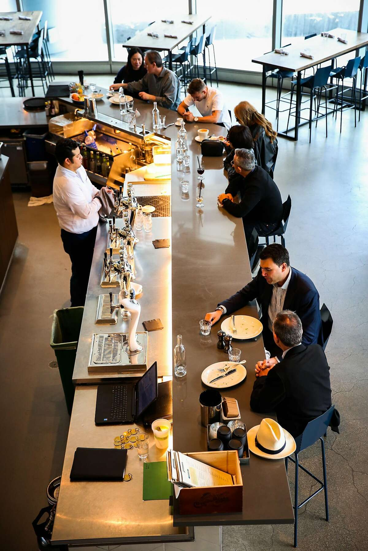 The dining room at Corridor restaurant in San Francisco, California, on Tuesday, July 24, 2018.