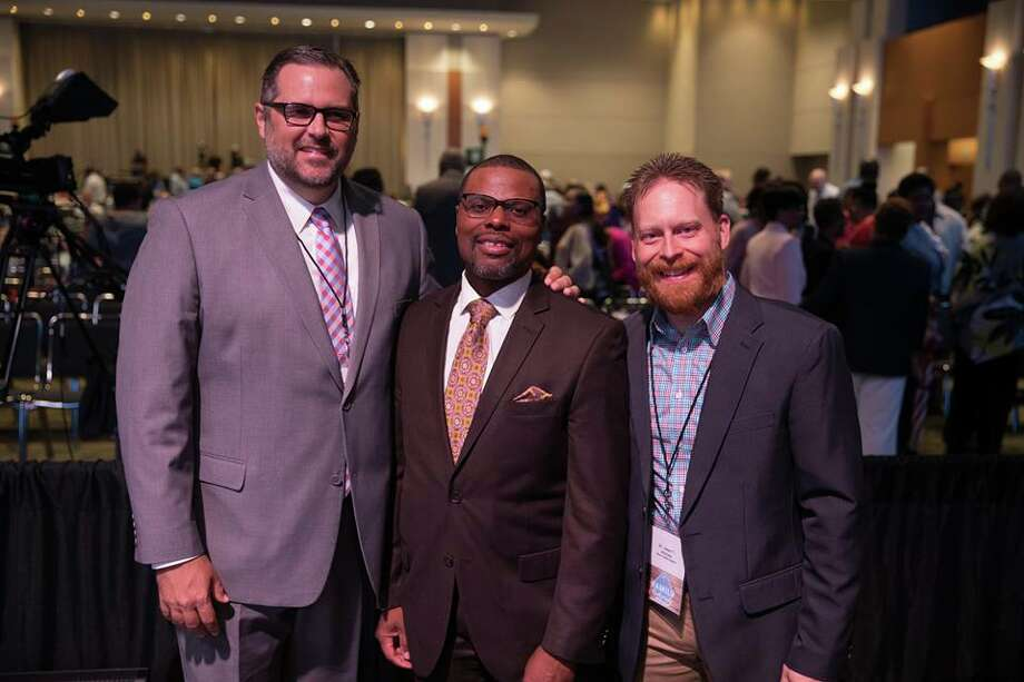 Jason Burden, pastor of First Baptist Church of Nederland, was elected as first vice president of Texas Baptists.