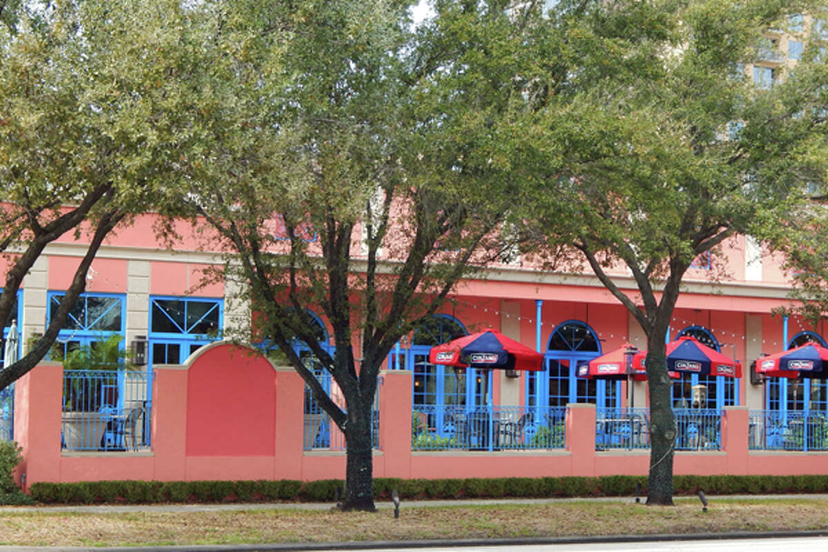 Exterior of Tony Mandola's Gulf Coast Kitchen, 1212 Waugh Dr., Houston, showing the restaurant's new paint job.