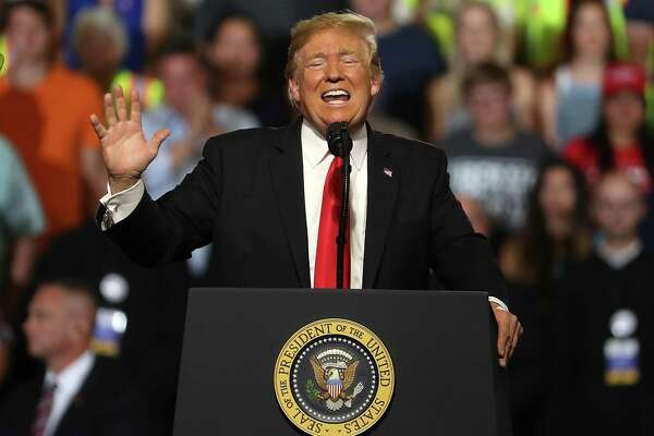 U.S. president Donald Trump speaks during a campaign rally at Four Seasons Arena on July 5 in Great Falls, Montana.