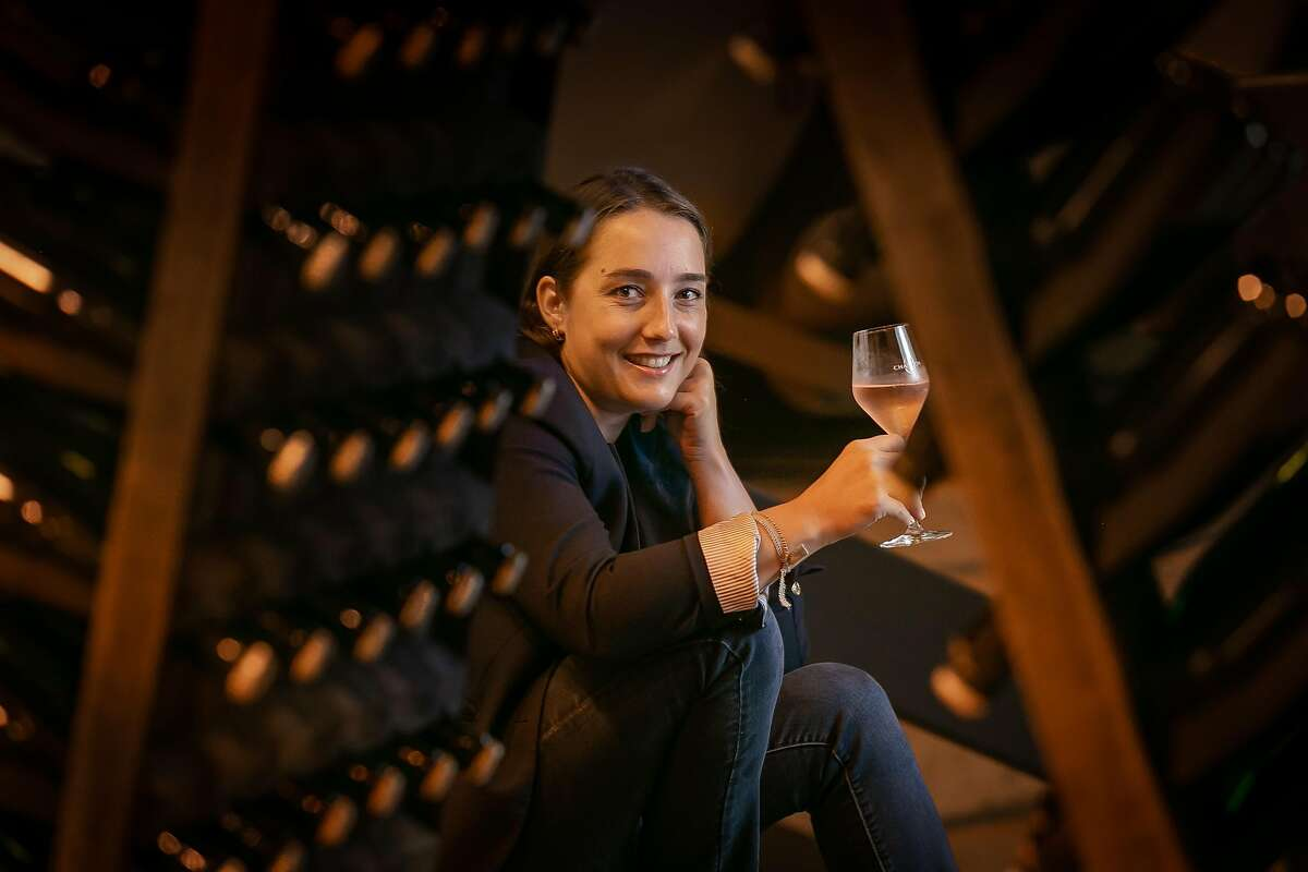 Director of winemaking for Domaine Chandon, Pauline Lhote at the winery in Yountville, Calif. is seen on July 24th, 2018.