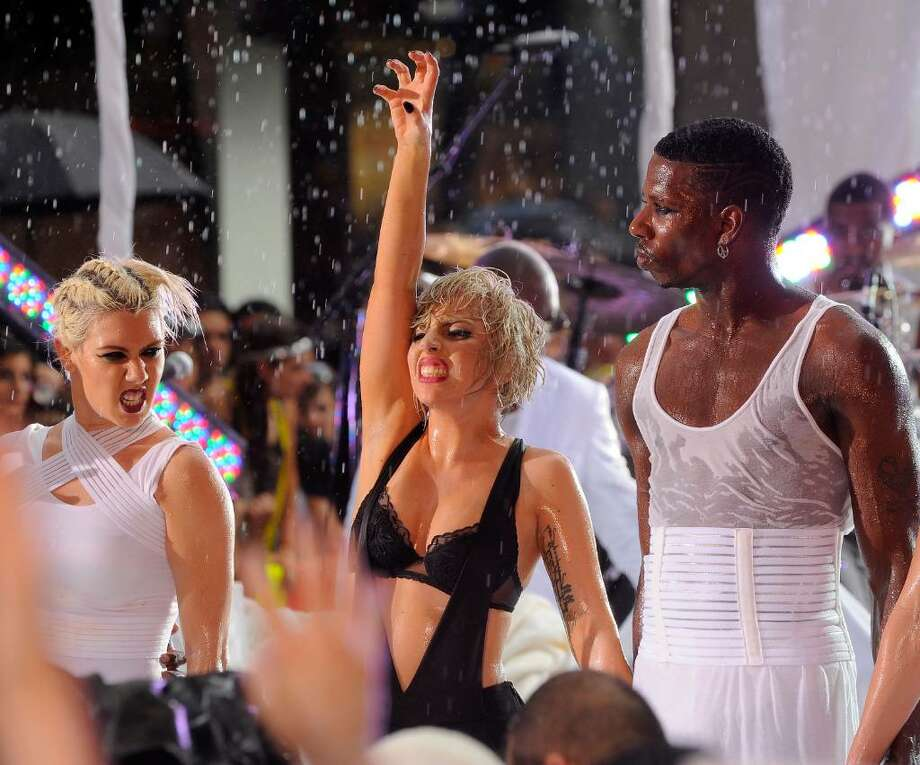 """NEW YORK - JULY 09:  Singer Lady Gaga performs on NBC's """"Today"""" at Rockefeller Center on July 9, 2010 in New York City.  (Photo by Jemal Countess/Getty Images) *** Local Caption *** Lady Gaga Photo: Jemal Countess, Getty Images / 2010 Getty Images"""