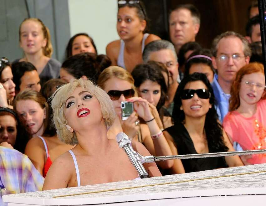 NEW YORK - JULY 09: Singer Lady Gaga performs on NBC's