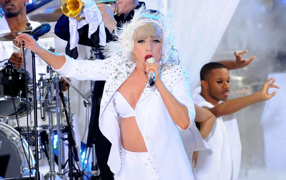 "NEW YORK - JULY 09:  Singer Lady Gaga performs on NBC's ""Today"" at Rockefeller Center on July 9, 2010 in New York City.  (Photo by Jemal Countess/Getty Images) *** Local Caption *** Lady Gaga Photo: Jemal Countess, Getty Images / 2010 Getty Images"