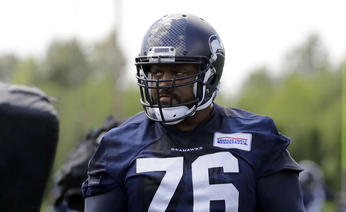 Seahawks standout left tackle Duane Brown is doubtful for Sunday against the Cleveland Browns with a biceps injury.