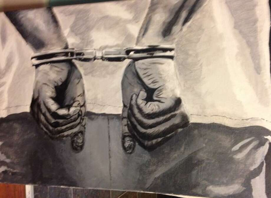 One of the censored paintings at issue in notices of claim filed during the summer of 2018 by a recent graduate against the Niskayuna school district. Photo: Karlin, Rick