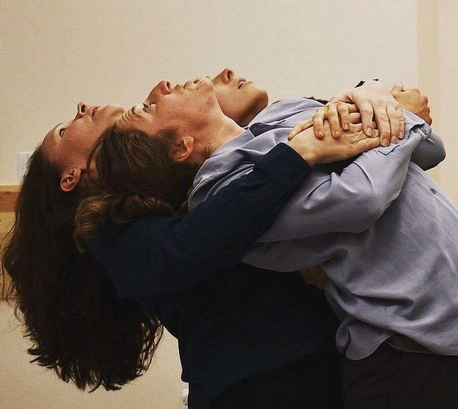 "Jody Christian (left), Anastasia Barron and Adrian Deane in ""4.48 Psychosis."" Photo: Jane Shamaeva / Anton's Well Theater Company"