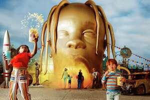 "Travis Scott album art for ""Astroworld."""