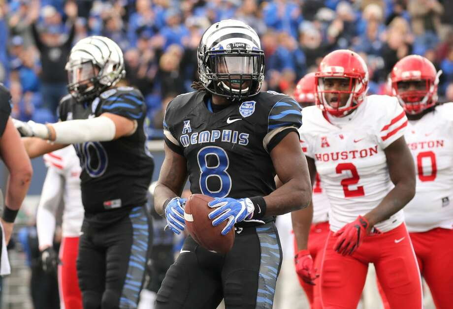 PHOTOS: NFL's best available free agents  MEMPHIS, TN - NOVEMBER 25: Darrell Henderson #8 of the Memphis Tigers celebrates a touchdown against the Houston Cougars on November 25, 2016 at Liberty Bowl Memorial Stadium in Memphis, Tennessee. Memphis defeated Houston 48-44. (Photo by Joe Murphy/Getty Images) >>>See which players remain available during the 2019 offseason ...  Photo: Joe Murphy/Getty Images