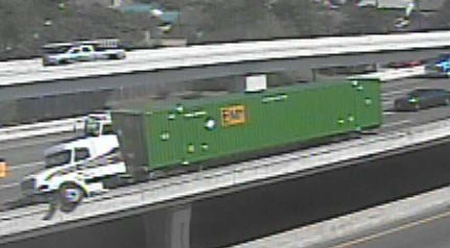 I-35 lower level closed at S. Alamo due to 18-wheeler incident on August 1, 2018 Photo: TxDOT