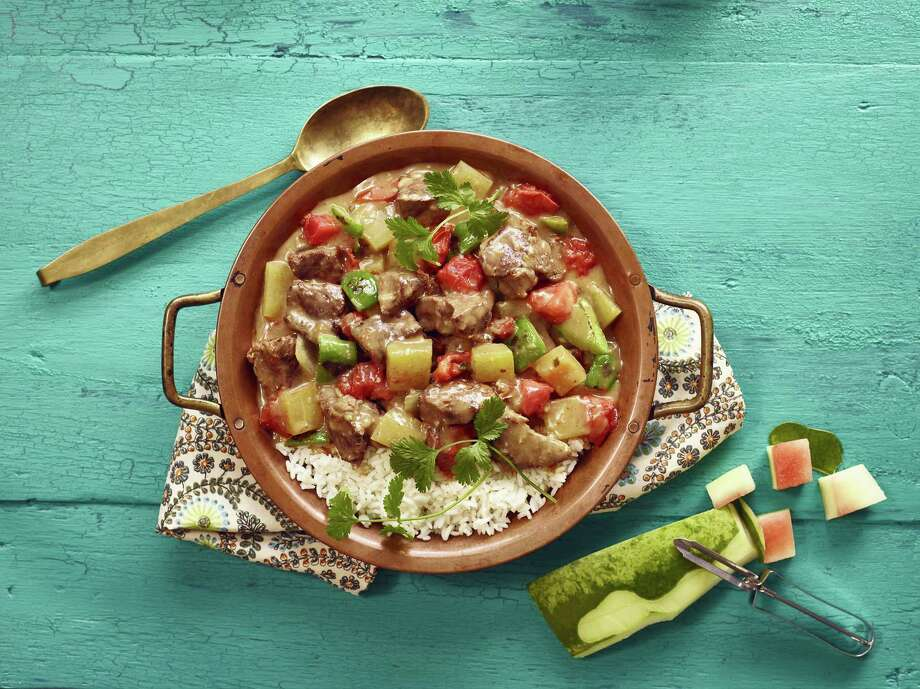 This twist on carne guisada includes watermelon rind. Photo: Watermelon.org