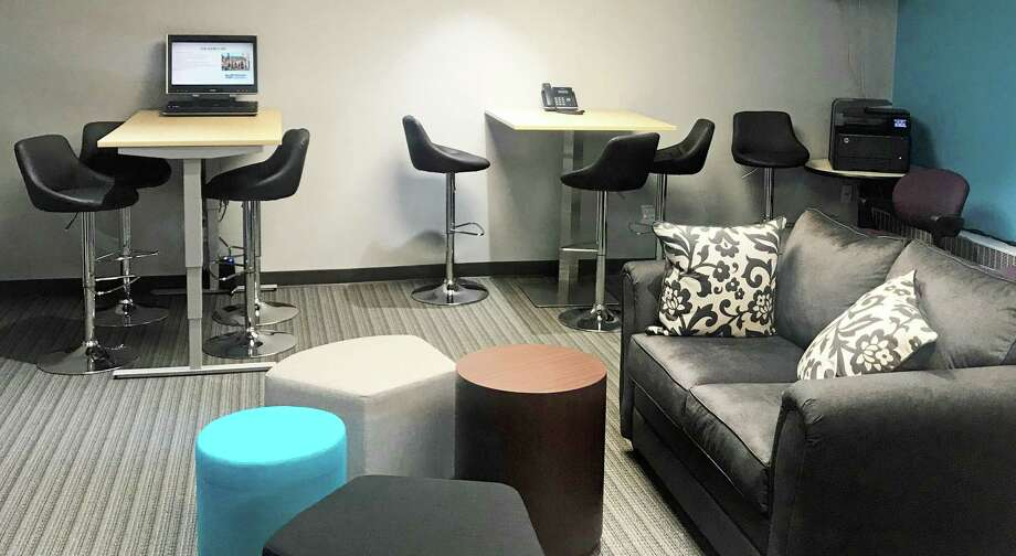 The MEWS+ co-working space on the second floor of the Middlesex County Chamber of Commerce office on Main Street in Middletown has opened. It includes more than 600 square feet of space, shared work and collaboration stations, high-speed wifi, business mentoring and more. Photo: Contributed Photo