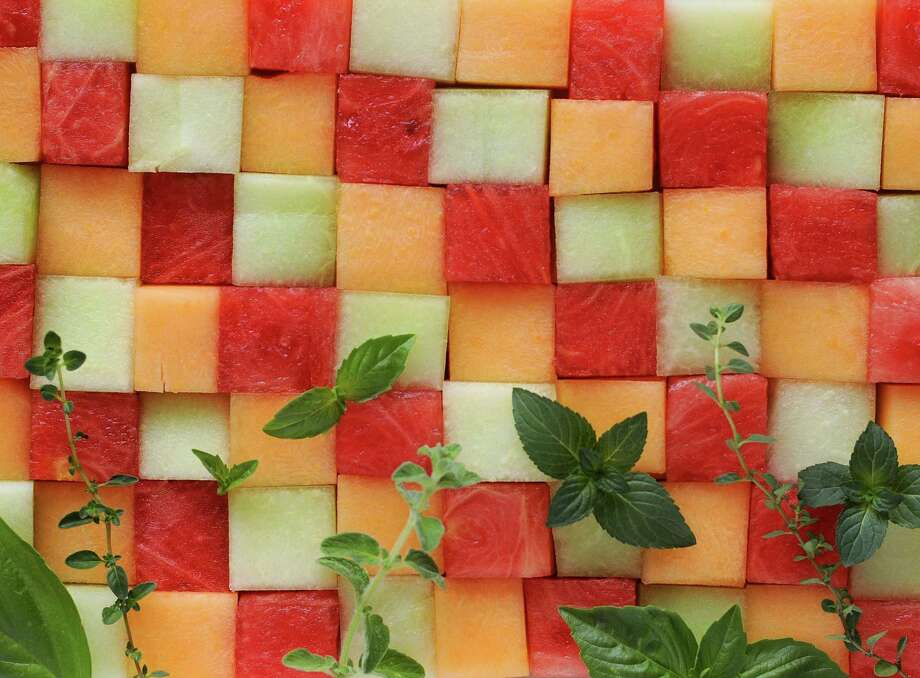Cantaloupe, honeydew and watermelon all show off a savory side in these six recipes. Photo: Paul Stephen /Staff
