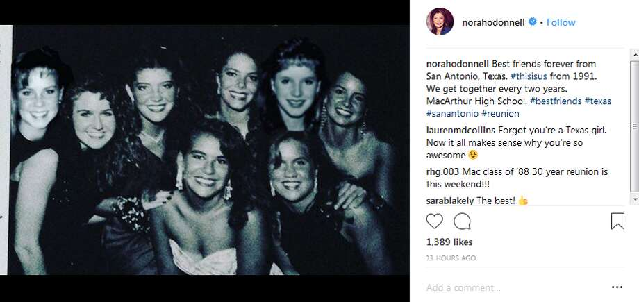 norahodonnell: Best friends forever from San Antonio, Texas. #thisisus from 1991. We get together every two years. MacArthur High School. #bestfriends #texas #sanantonio #reunion Photo: Instagram Screengrab