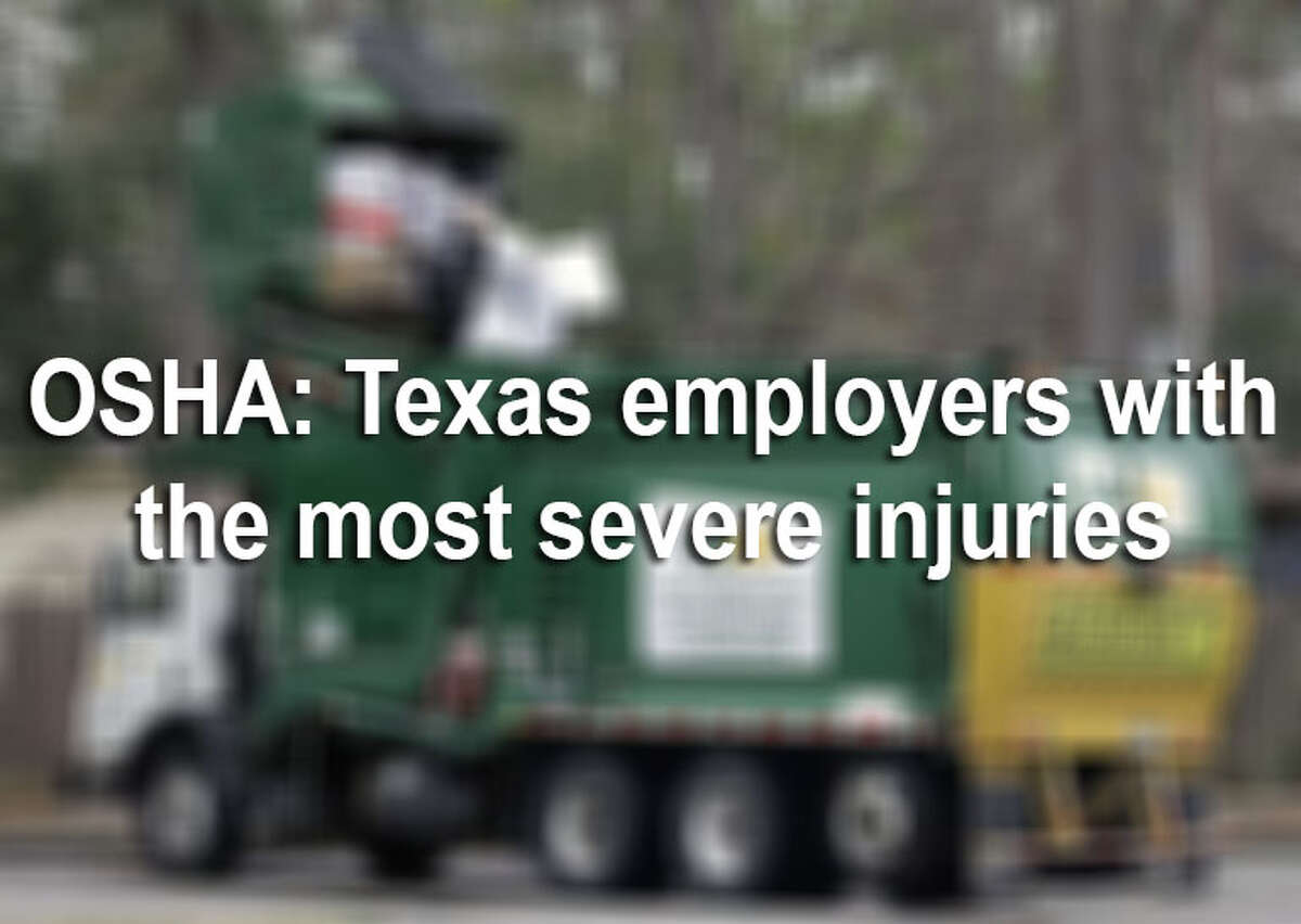 More than 6,000 Texas employees reported severe injuries at work between Jan. 1, 2015 and June 1, 2018, according to records from the U.S. Occupational Safety and Health Administration. Click through the slideshow to find out which Texas employers reported the most injuries.