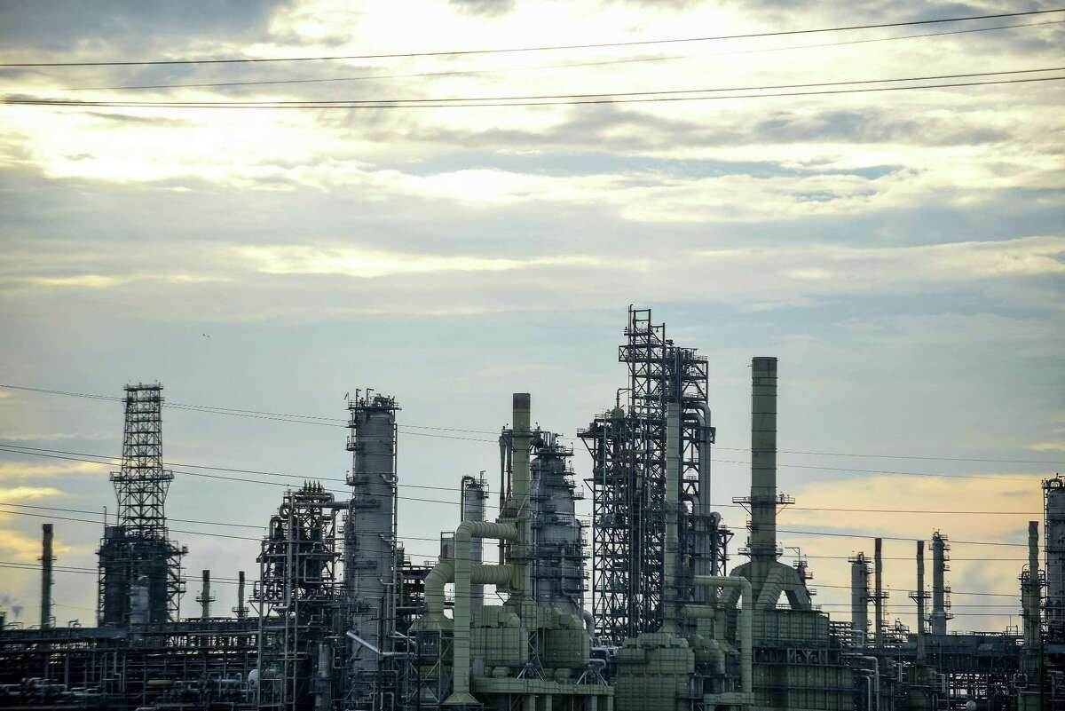 The Marathon Petroleum Corp. Garyville refinery stands in Garyville, Louisiana. American refineries hit new capacity records earlier this year and are using more U.S. oil instead of imports, according to a report from the Energy Department.