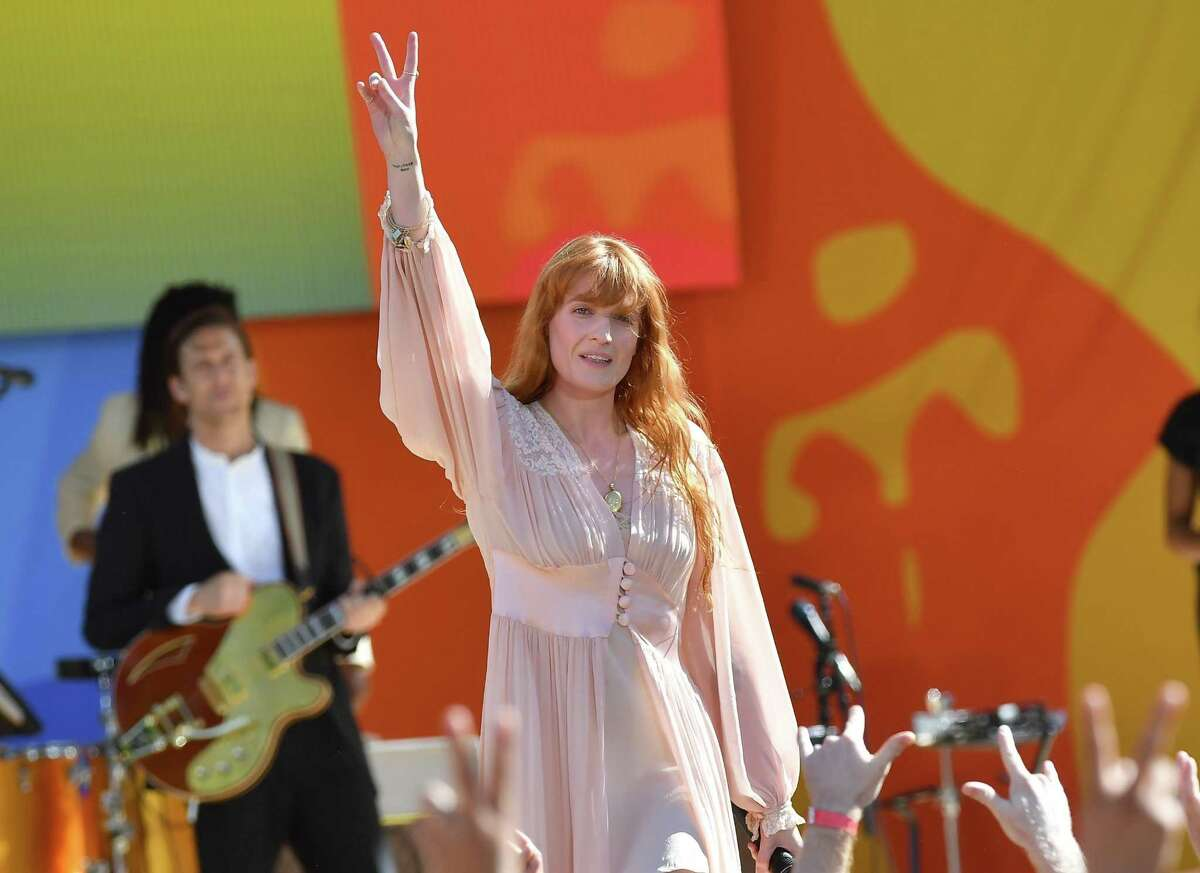 Florence Welch at the Florence + The Machine concert in Central Park this summer.