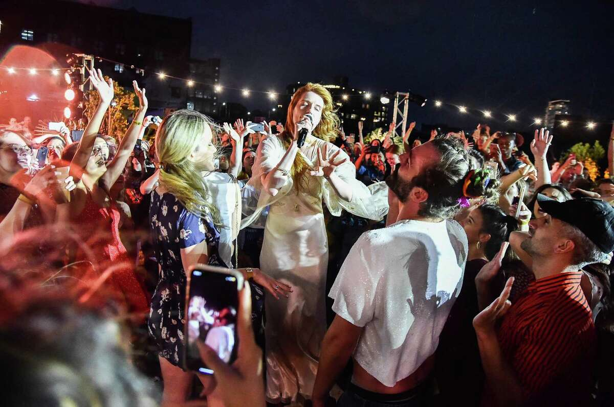 Florence Welch of Florence + The Machine performs onstage during a Spotify Premium intimate event on June 24 in Brooklyn, N.Y.