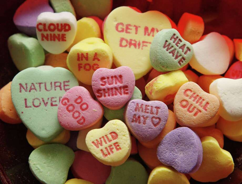 A file photo of Necco Sweetheart candies produced by the New England Confectionary Co. Massachusetts Necco workers sued Greenwich-based Round Hill Investments that backed out of a deal to run the candy maker, laying off 230 employees according to the lawsuit. Photo: Greg M. Cooper / AP / NECCO