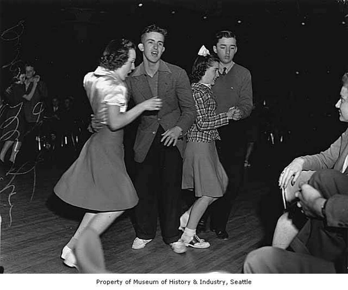 Dancers at a Duke Ellington show, probably at The Showbox in Seattle, 1940.