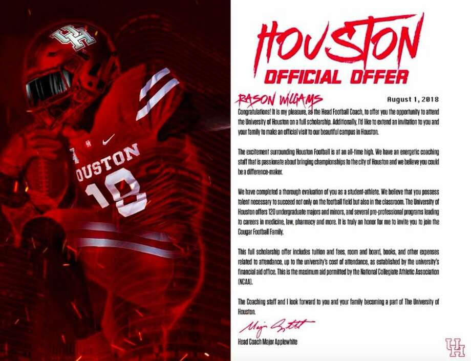 PHOTOS: A look at the design of scholarship offers from different schools UH Aug. 1 is the first day college football programs can send official scholarship offers to high school athletes. Photo: Twitter