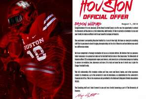 UH    Aug. 1 is the first day college football programs can send official scholarship offers to high school athletes.