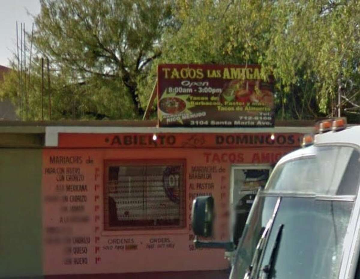Tacos Amigas: 3104 Santa Maria Date: 07/16/19 Score: 98 Out of compliance: Wiping Cloths; properly used and stored.Garbage and Refuse properly disposed.
