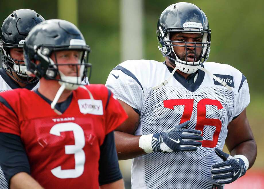 PHOTOS:Memes that summarize the seasons for Texans, Cowboys fans Houston Texans quarterback Brandon Weeden (3) and tackle Seantrel Henderson (76) warm up during training camp at the Greenbrier Sports Performance Center on Wednesday, Aug. 1, 2018, in White Sulphur Springs, W.Va. >>>Here's a recap of the 2018-19 seasons for the Houston Texans and Dallas Cowboys with nothing but memes ... Photo: Brett Coomer, Houston Chronicle / © 2018 Houston Chronicle