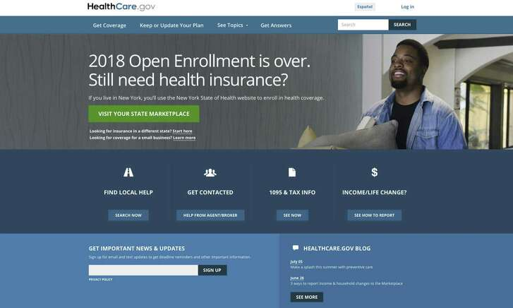 The HealthCare.gov website main page. The Trump administration is clearing the way for insurers to sell short-term health plans as a bargain alternative to pricey Obamacare for consumers struggling with high premiums. But the policies don't have to cover pre-existing conditions and benefits are limited. It's not certain if that's going to translate into broad consumer appeal among people who need an individual policy.