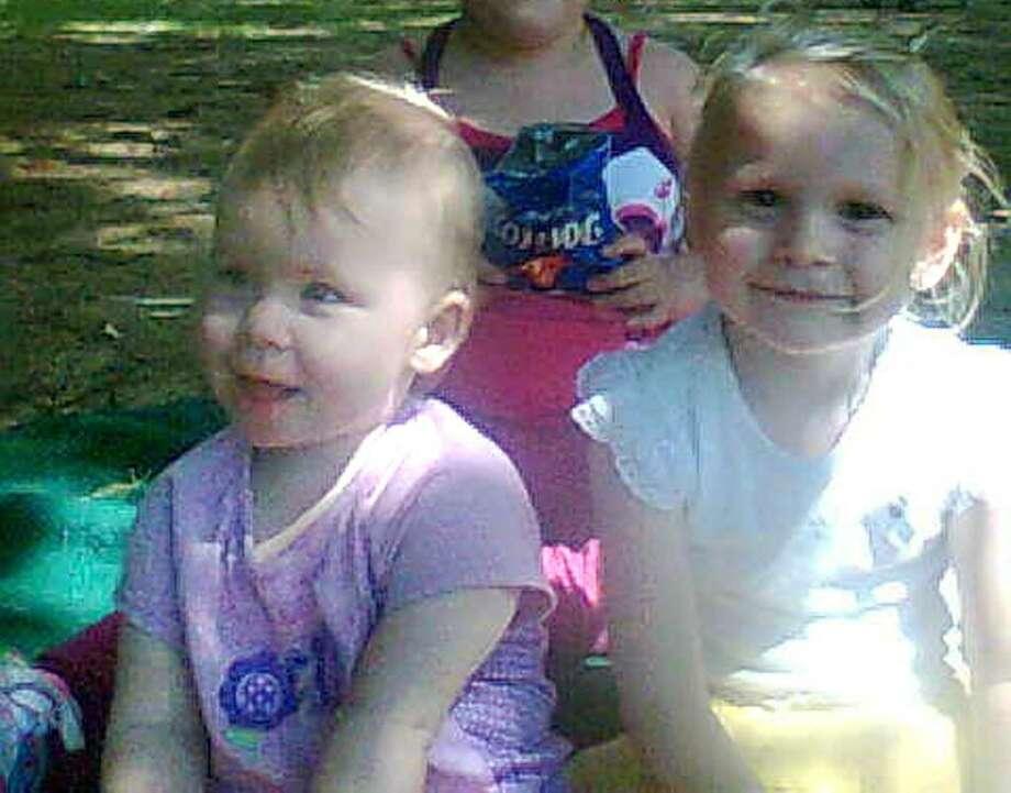 Sylvia  Noxon, 2, left, and Julia Sharkey, 4. (Facebook)