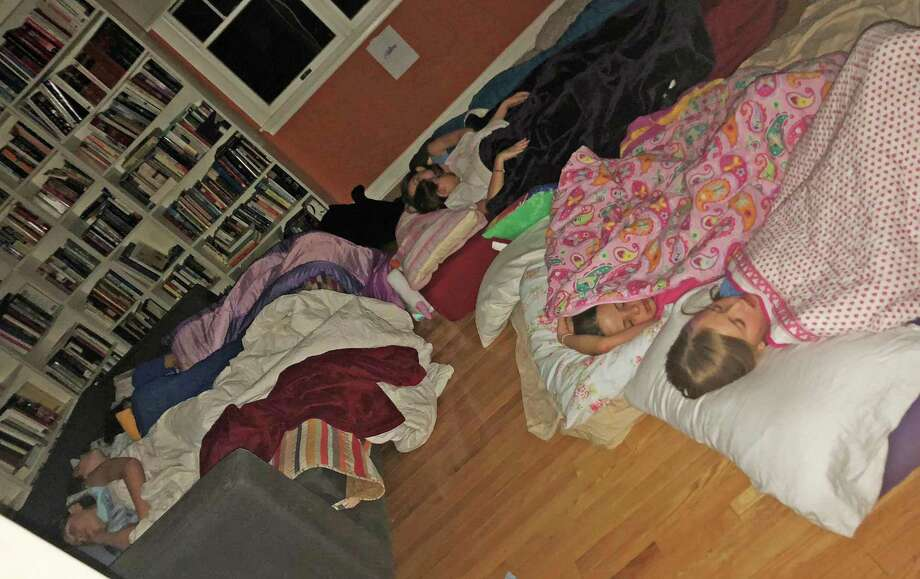 The girls actually did sleep at this birthday party sleepover in Greenwich. Photo: Contributed Photo / Contributed / Greenwich Time Contributed