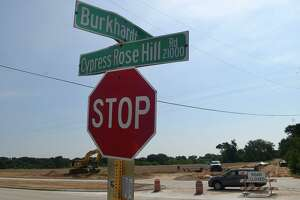 A 90-degree east-west turn on Cypress Rosehill Road just south of Burkhardt Road will be renamed Holderrieth Road by the county.