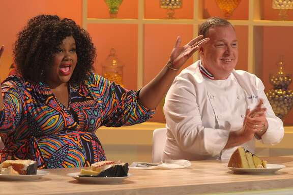 """Now in its second season, the new Netflix series """"Nailed It!"""" features host Nicole Byer (left) and master pastry chef Jacques Torres judge the cakes of home bakers trying to copy the artsy cakes of the pros."""