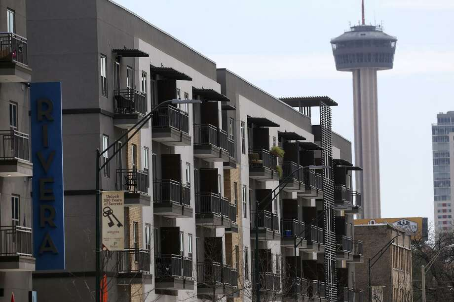 Rivera lofts or apartments on Broadway Tuesday March 13, 2018. Infrastructure construction in the area is causing growing pains for area businesses on San Antonio's near northside downtown. Photo: John Davenport, STAff / San Antonio Express-News / ©San Antonio Express-News/John Davenport