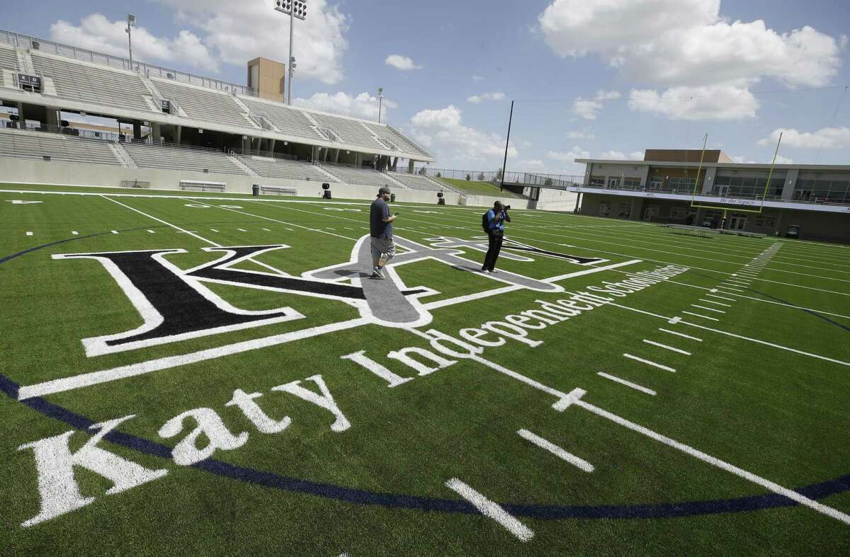 People take a tour at the Mike Johnston Field at Katy ISD Legacy Stadium, 5070 Franz Rd., is shown Thursday, Aug. 17, 2017, in Katy. ( Melissa Phillip / Houston Chronicle )