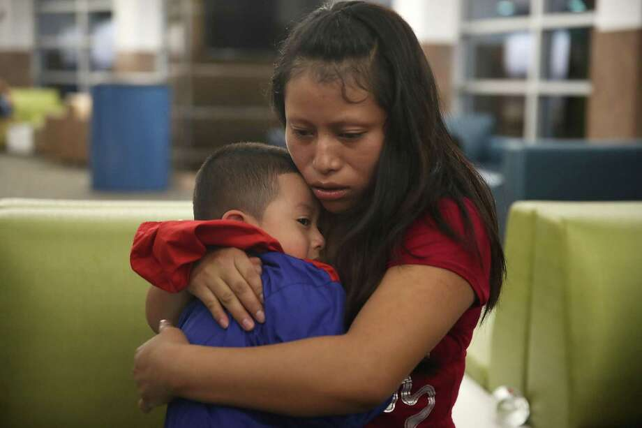 A woman from Guatemala is reunited with her 4-year-old son in El Paso. The GOP has become the party of child abuse. Photo: Joe Raedle /Getty Images / 2018 Getty Images