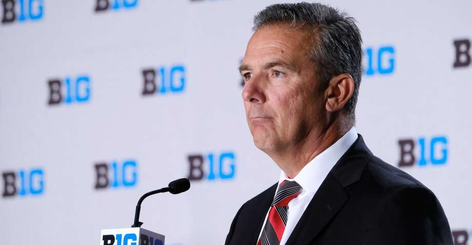 CHICAGO, IL - JULY 24: Ohio State Football head coach Urban Meyer speaks to the media during the Big Ten Football Media Days event on July 24, 2018 at the Chicago Marriott Downtown Magnificent Mile in Chicago, Illinois. (Photo by Robin Alam/Icon Sportswire via Getty Images) Photo: Icon Sportswire/Icon Sportswire Via Getty Images