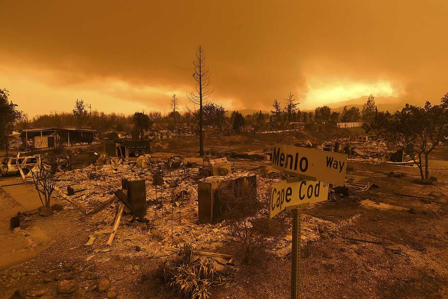 The largest California wildfires 12) Carr Fire, Shasta and Trinity counties, July 2018Size: 163,207 acres, 255 square miles; larger than the city of Chicago and comparable to the size of Singapore, Molokai in the Hawaiian Islands and El Paso, Texas(Photo: Homes leveled by the Carr Fire line the Lake Keswick Estates area of Redding, Calif., on Friday, July 27, 2018.) More: https://www.sfgate.com/california-wildfires Photo: Noah Berger / Associated Press