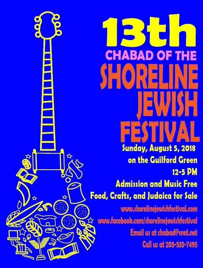 The 13th Annual Shoreline Jewish Festival will take place Sunday afternoon, Aug. 5. 2018 on the Guilford Green. Photo: Contributed / Chabad Of The Shoreline